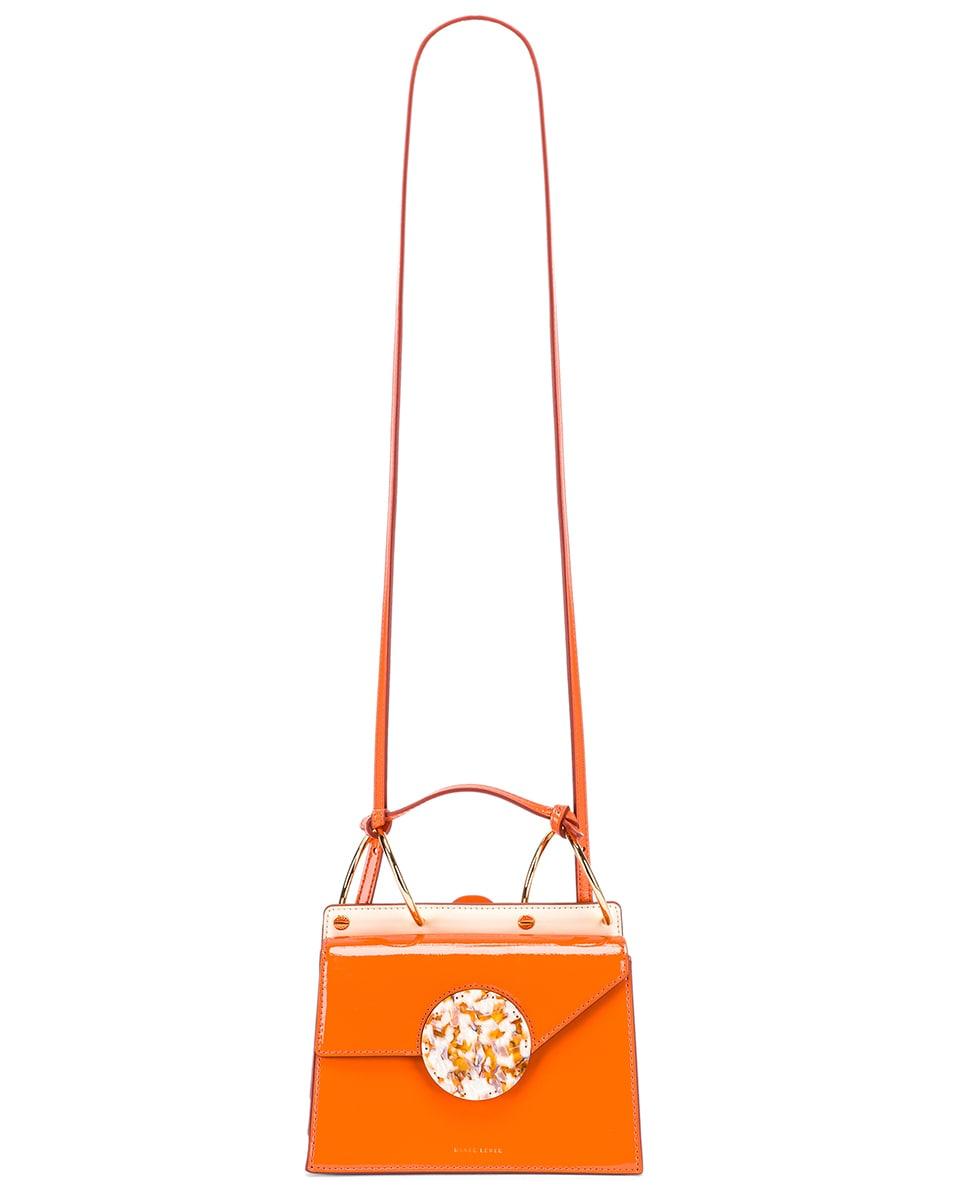 Image 6 of Danse Lente Patent Phoebe Bis Bag in Tangerine