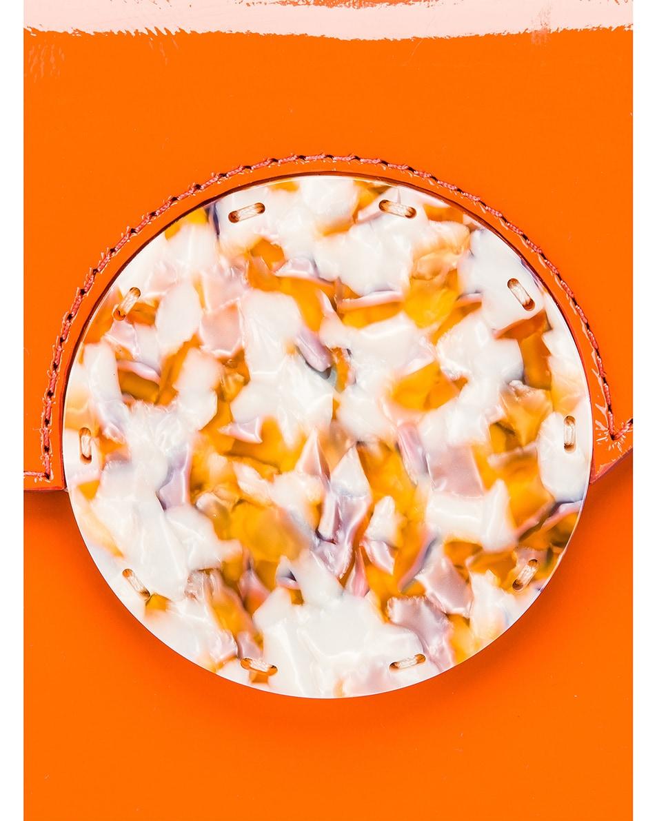 Image 8 of Danse Lente Patent Phoebe Bis Bag in Tangerine