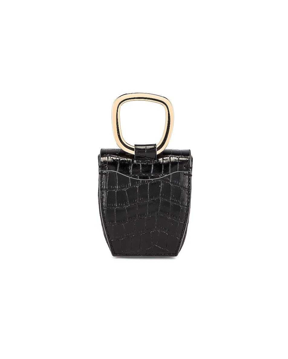 Image 3 of Danse Lente Magnetic Box in Jet Black Croc