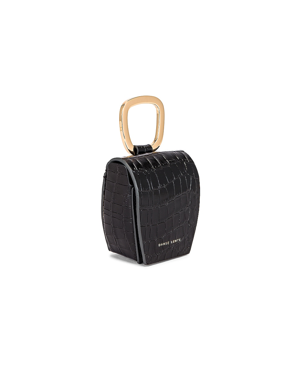 Image 4 of Danse Lente Magnetic Box in Jet Black Croc