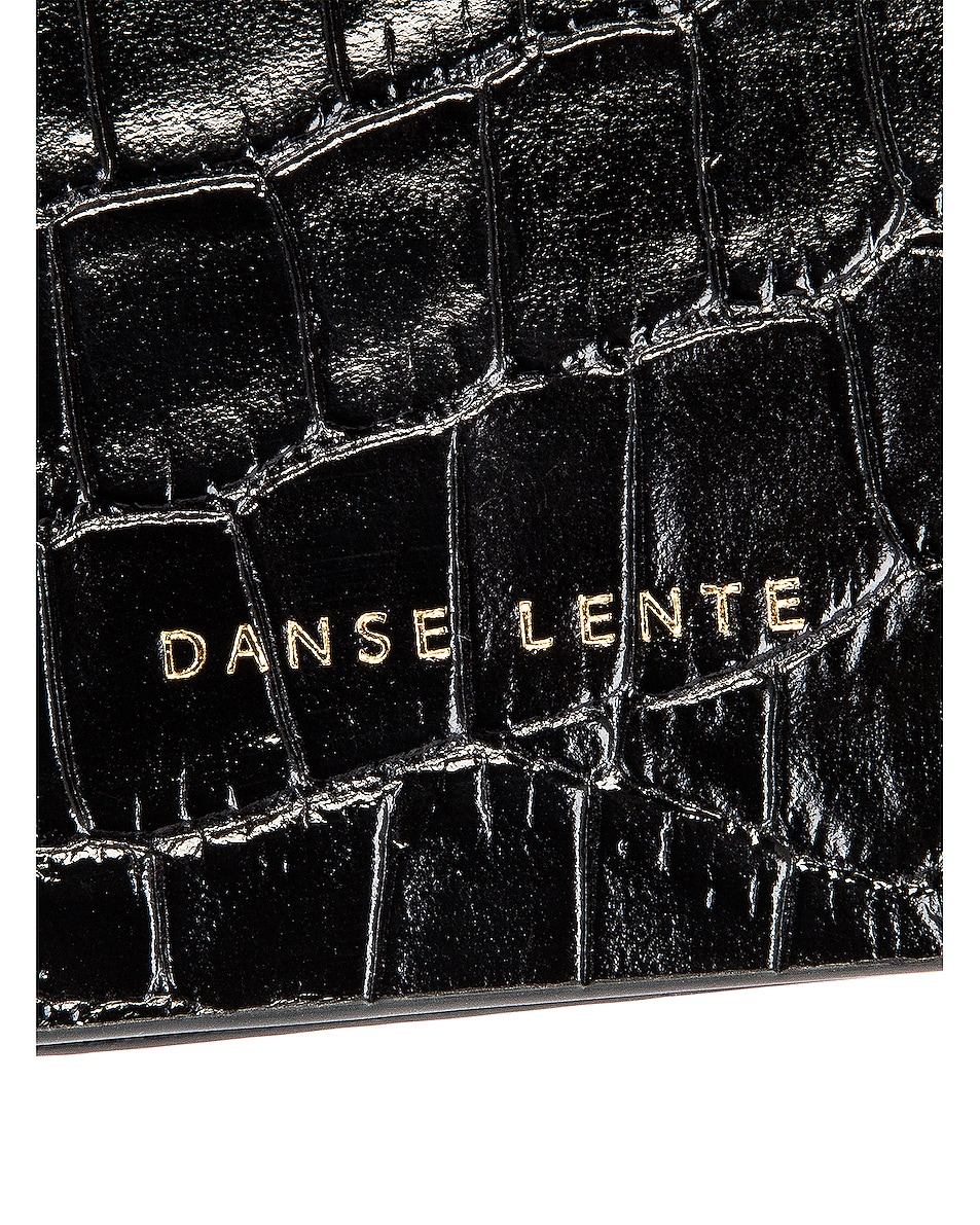 Image 7 of Danse Lente Magnetic Box in Jet Black Croc