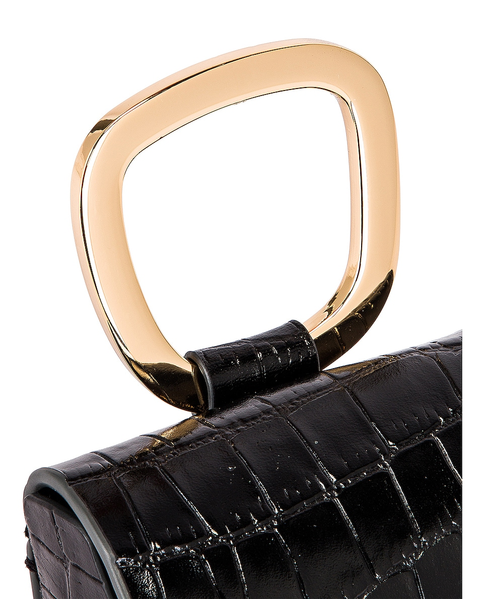 Image 8 of Danse Lente Magnetic Box in Jet Black Croc