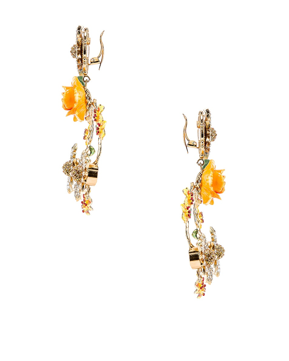 Image 3 of Dolce & Gabbana Floral Mix Earrings in Yellow