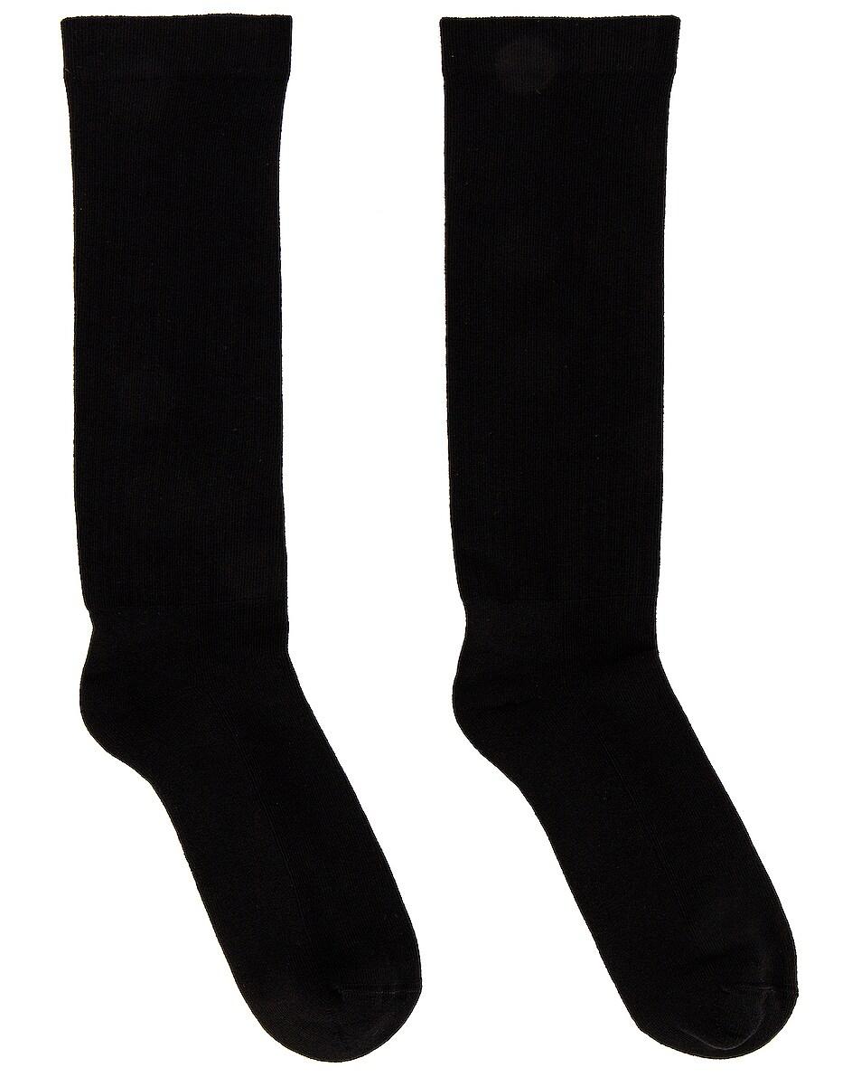 Image 2 of DRKSHDW by Rick Owens Mid Calf Socks in Black