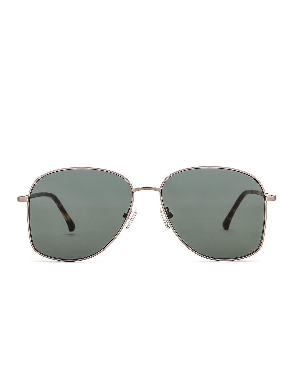 Image 1 of Dries Van Noten Metal Aviator Sunglasses in T Shell & Green