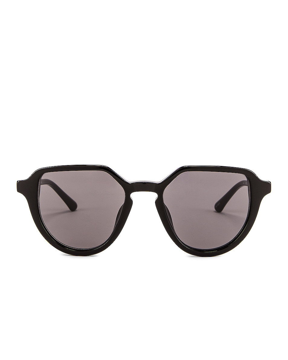 Image 1 of Dries Van Noten Square Round Sunglasses in Black & Silver