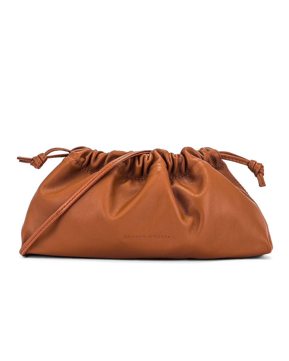 Image 1 of Studio Amelia 1.1 Mini Drawstring Bag in Tan Nappa Leather