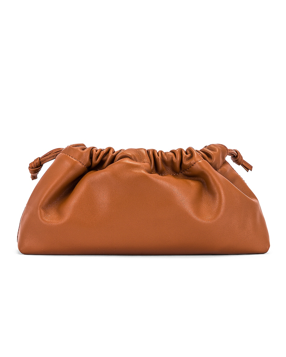 Image 3 of Studio Amelia 1.1 Mini Drawstring Bag in Tan Nappa Leather