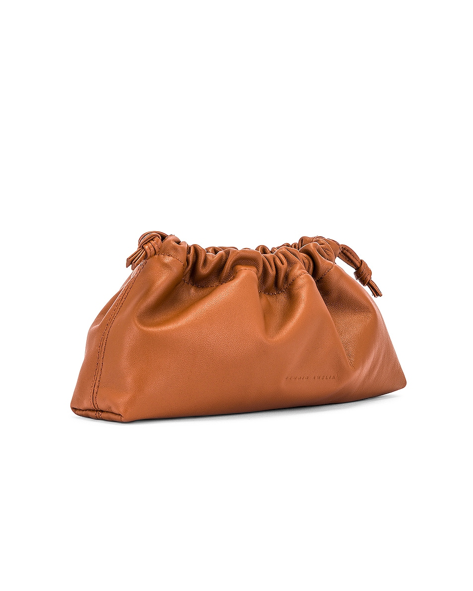 Image 4 of Studio Amelia 1.1 Mini Drawstring Bag in Tan Nappa Leather