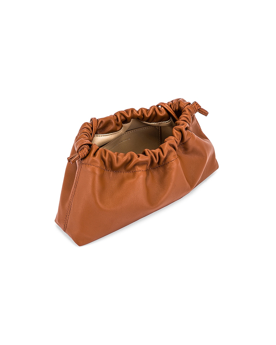 Image 5 of Studio Amelia 1.1 Mini Drawstring Bag in Tan Nappa Leather