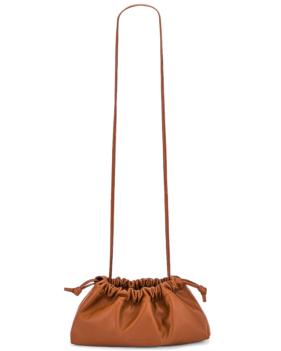 Image 6 of Studio Amelia 1.1 Mini Drawstring Bag in Tan Nappa Leather