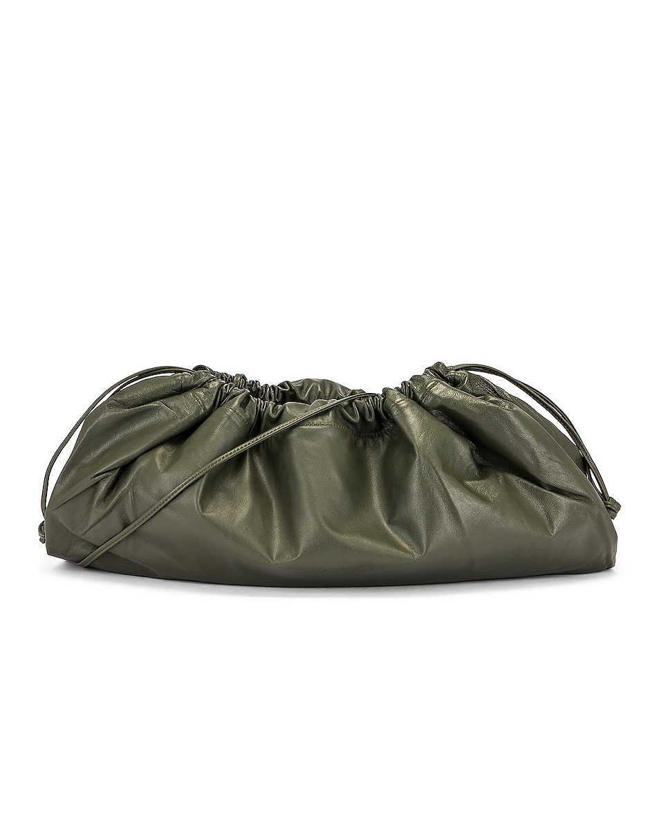 Image 1 of Studio Amelia 1.3 Maxi Drawstring Bag in Olive Nappa Leather