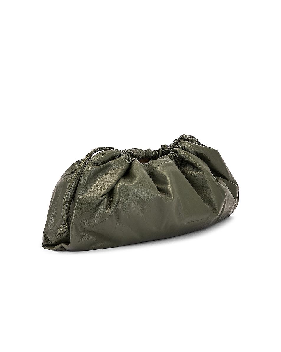 Image 4 of Studio Amelia 1.3 Maxi Drawstring Bag in Olive Nappa Leather