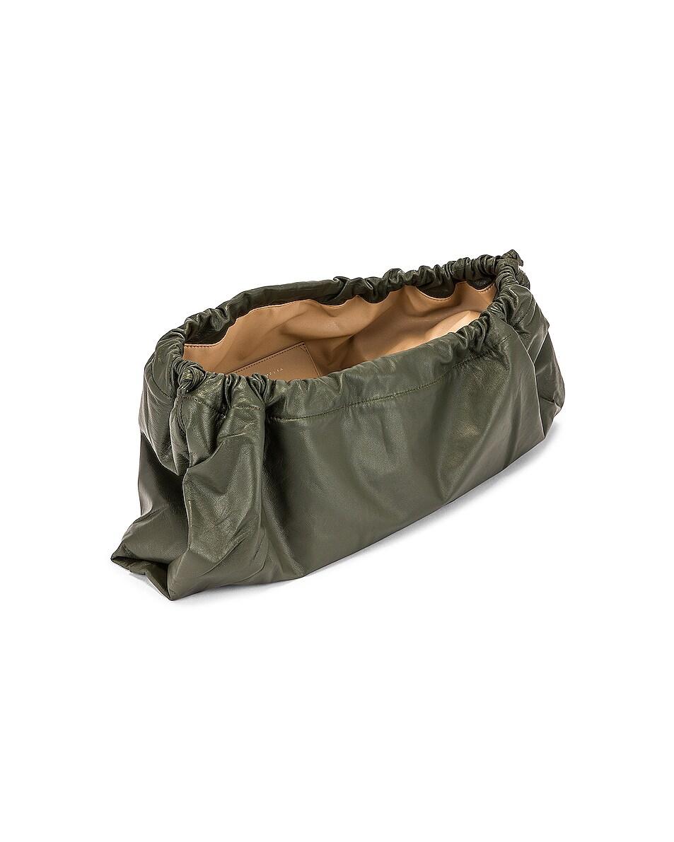 Image 5 of Studio Amelia 1.3 Maxi Drawstring Bag in Olive Nappa Leather