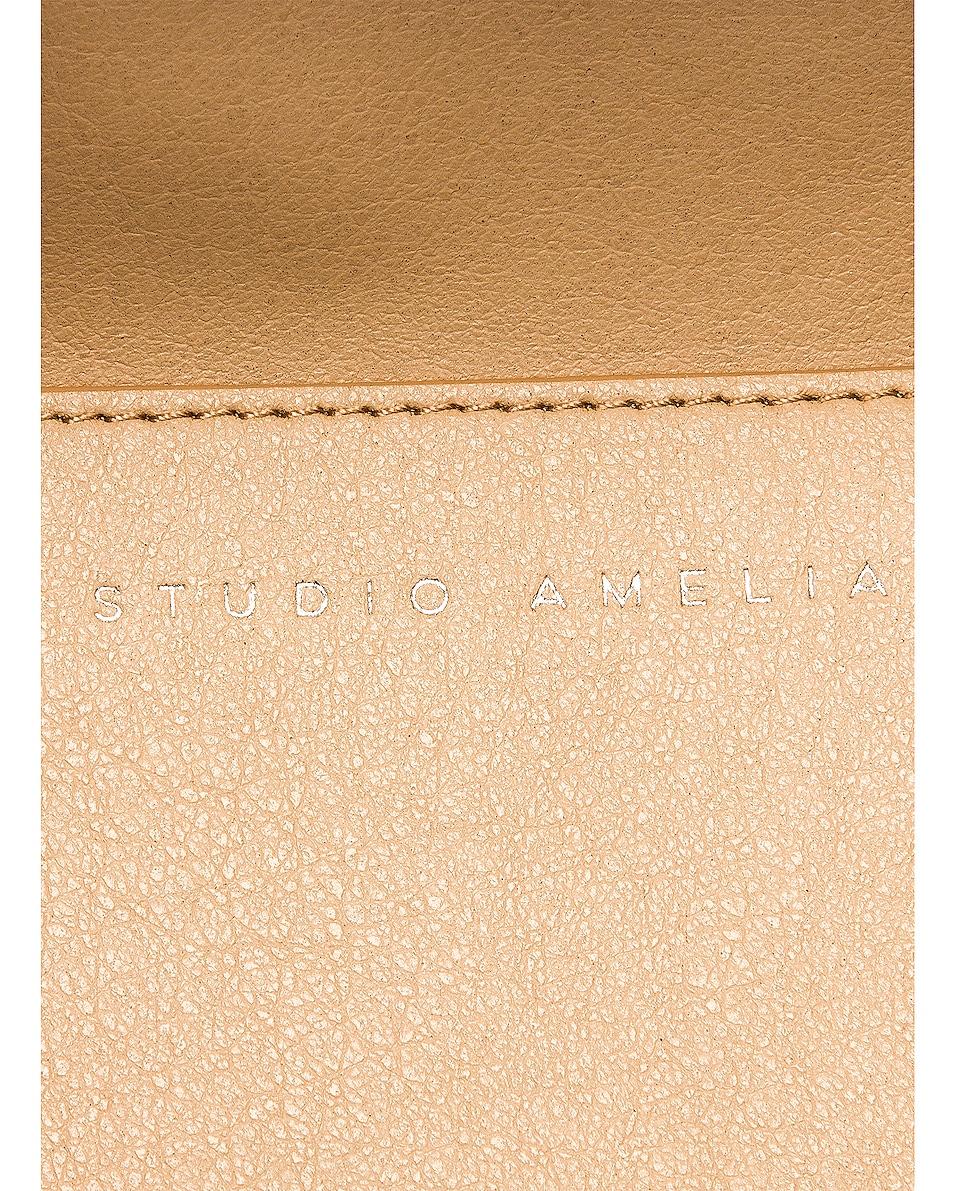 Image 7 of Studio Amelia 1.3 Maxi Drawstring Bag in Olive Nappa Leather