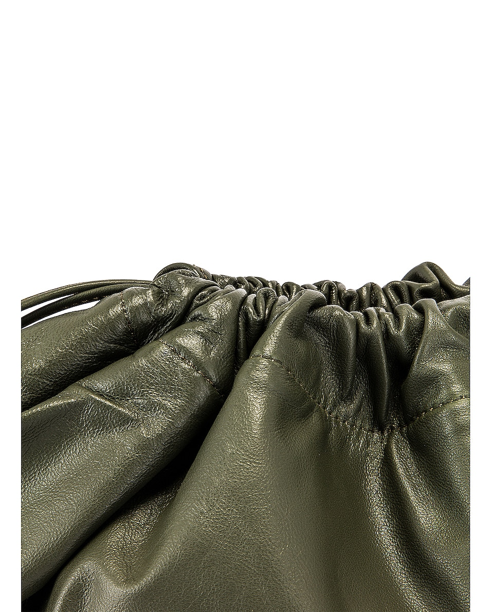 Image 8 of Studio Amelia 1.3 Maxi Drawstring Bag in Olive Nappa Leather