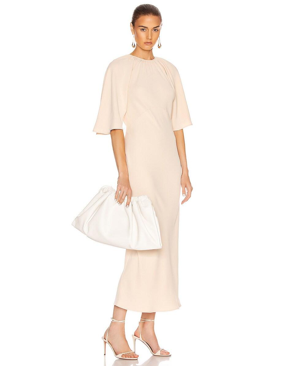 Image 2 of Studio Amelia 1.3 Maxi Drawstring Bag in White Nappa Leather