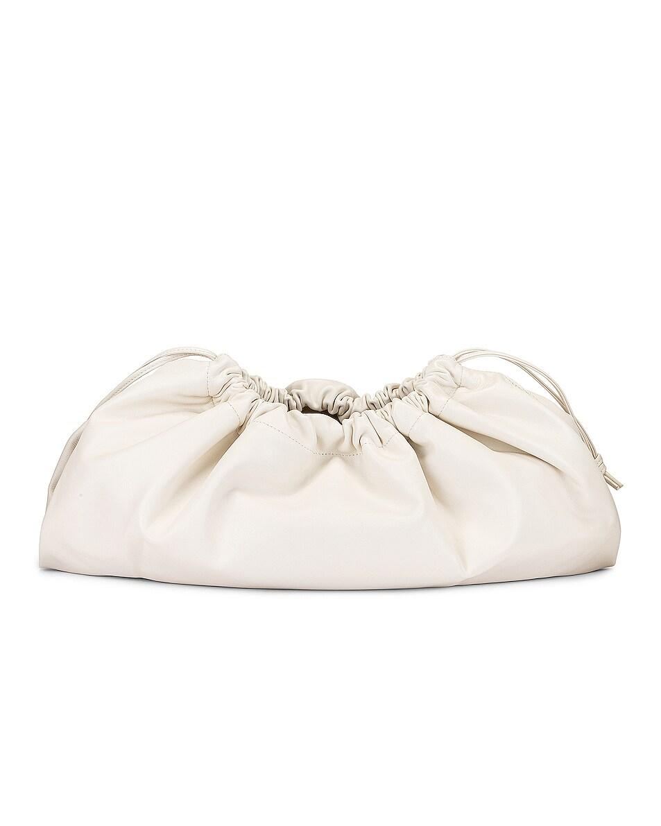 Image 3 of Studio Amelia 1.3 Maxi Drawstring Bag in White Nappa Leather