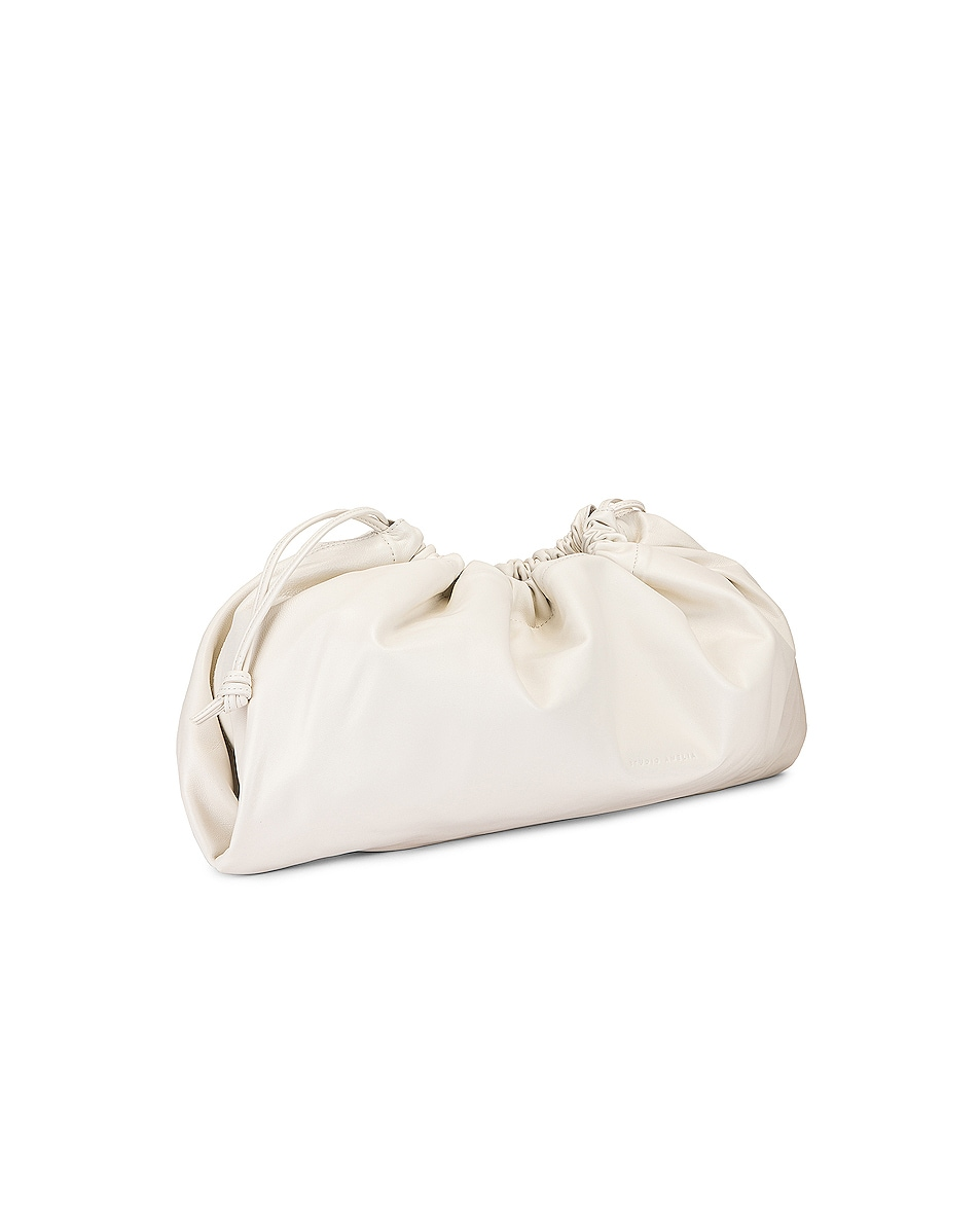 Image 4 of Studio Amelia 1.3 Maxi Drawstring Bag in White Nappa Leather