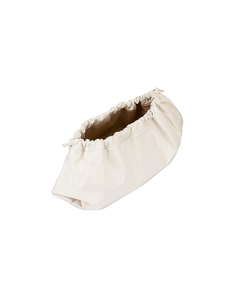 Image 5 of Studio Amelia 1.3 Maxi Drawstring Bag in White Nappa Leather