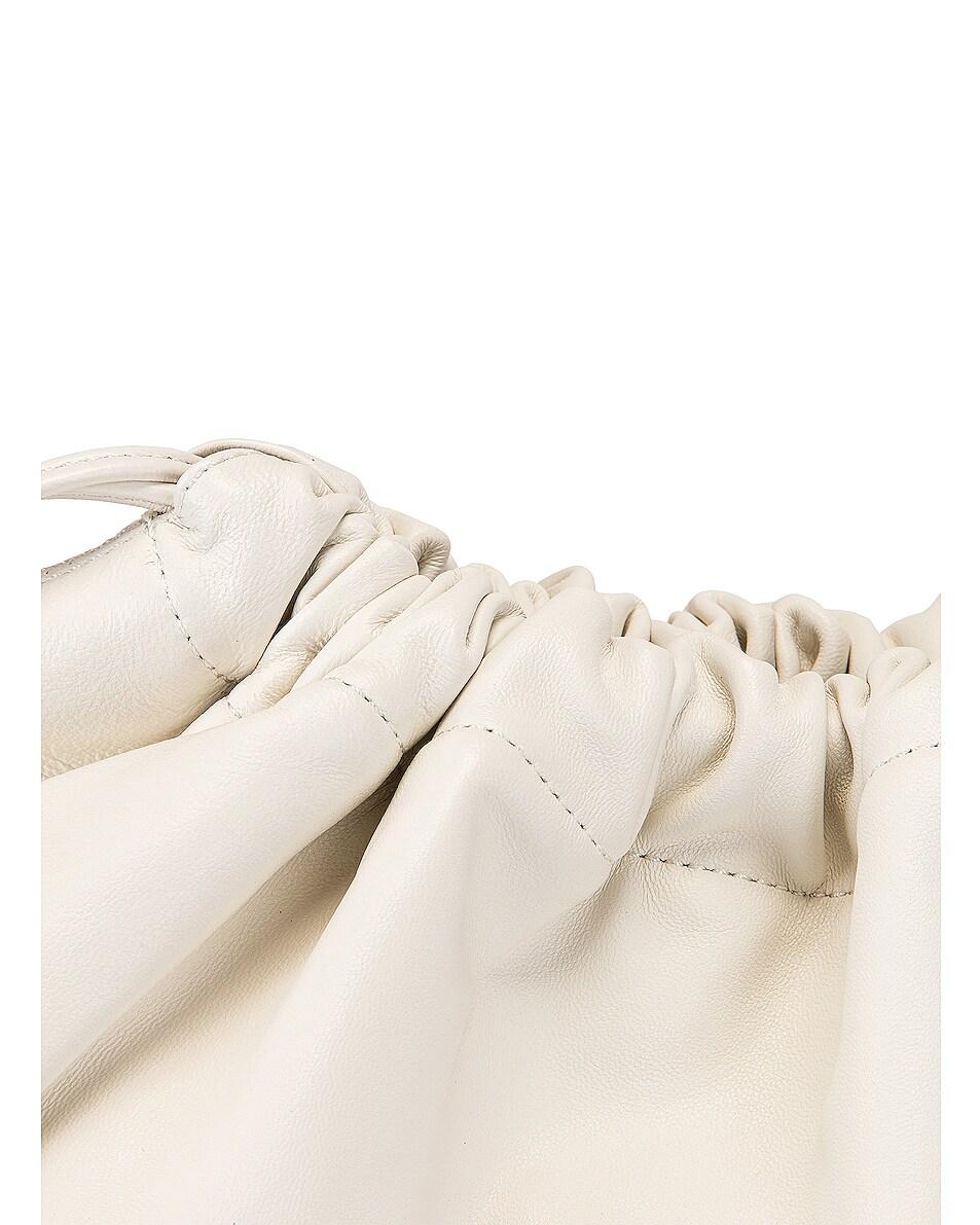 Image 8 of Studio Amelia 1.3 Maxi Drawstring Bag in White Nappa Leather