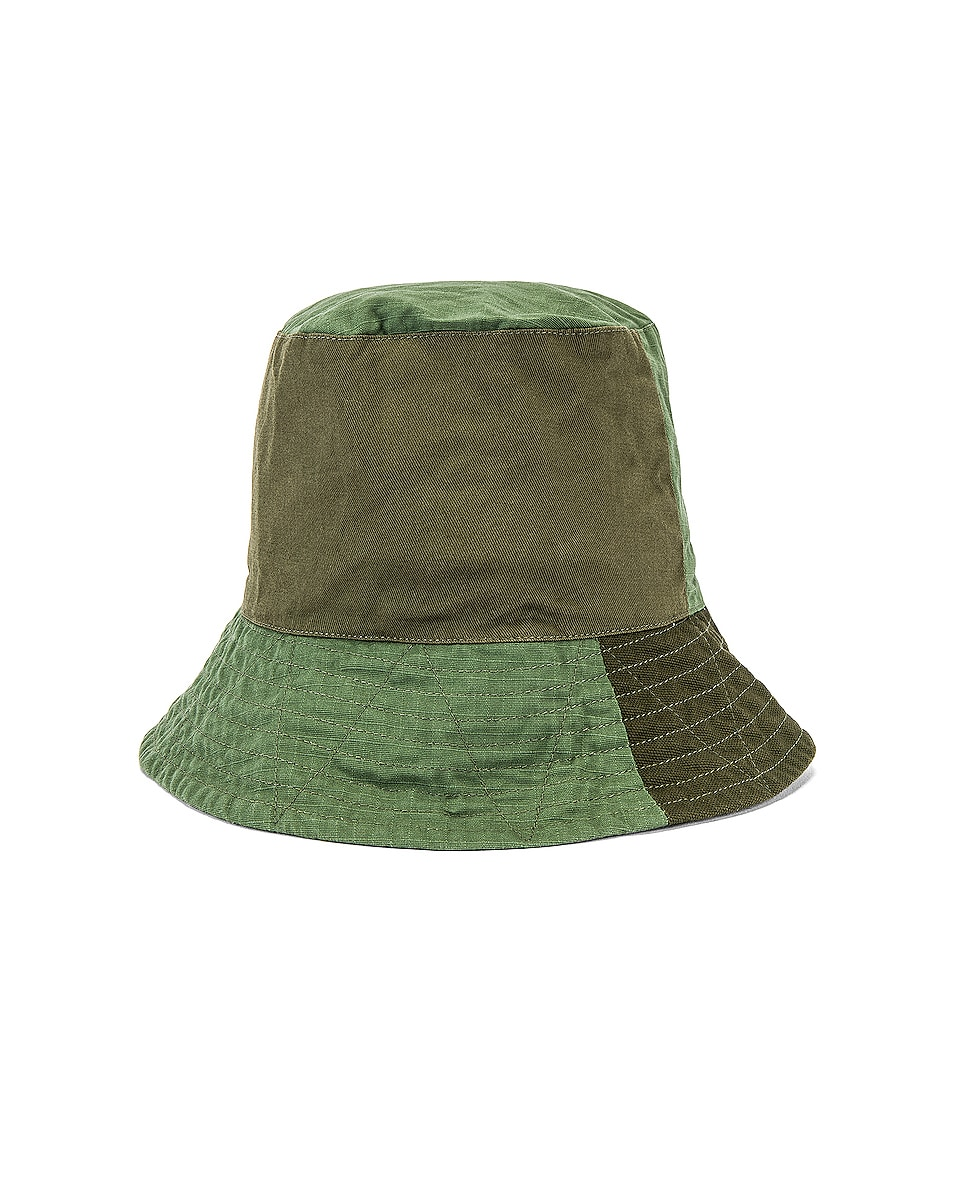 Image 1 of Engineered Garments Bucket Cotton Ripstop Hat in Olive