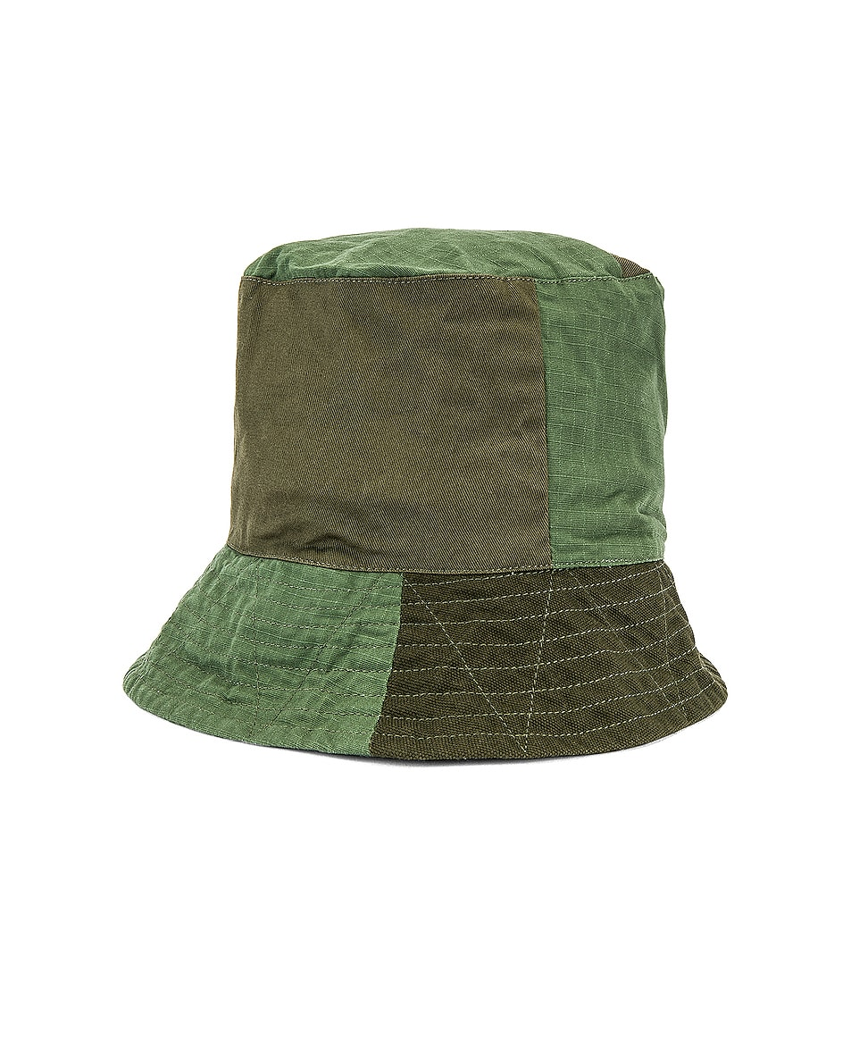Image 2 of Engineered Garments Bucket Cotton Ripstop Hat in Olive