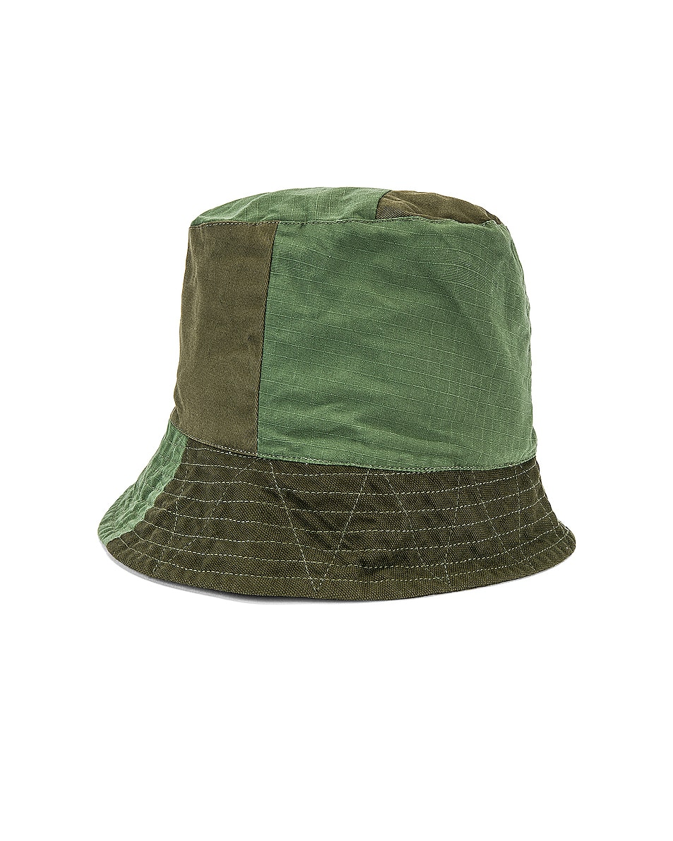 Image 3 of Engineered Garments Bucket Cotton Ripstop Hat in Olive