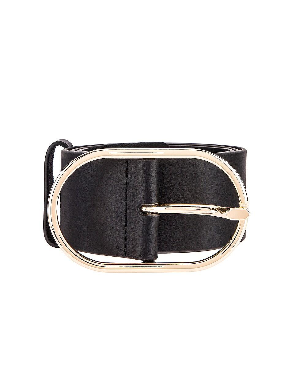 Image 1 of FRAME Grand Oval Buckle Belt in Noir