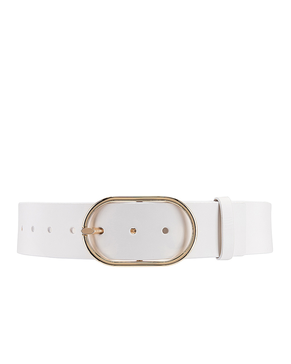 Image 1 of FRAME Grand Oval Buckle Belt in Blanc