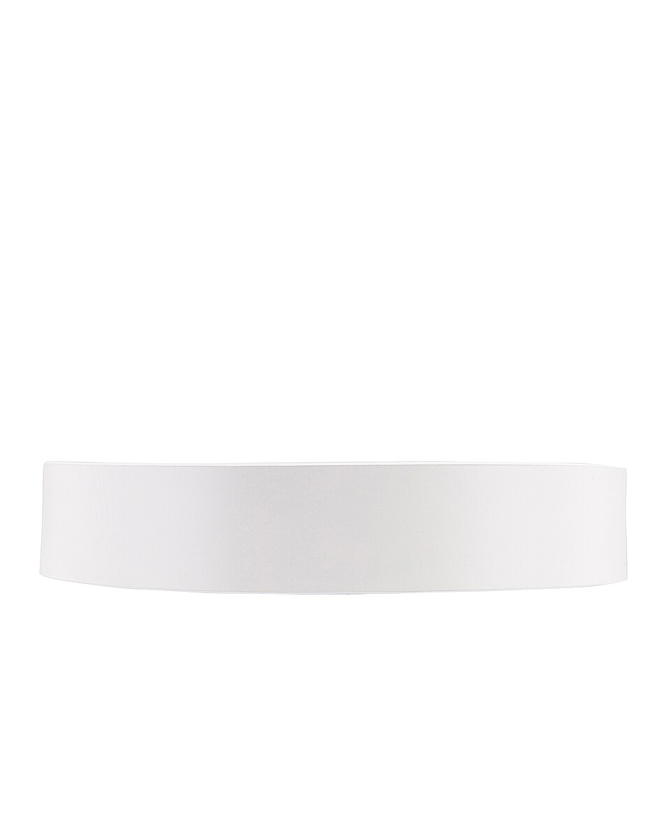 Image 2 of FRAME Grand Oval Buckle Belt in Blanc