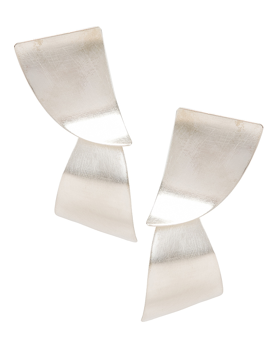 Image 1 of Fay Andrada Susea Large Earrings in Silver