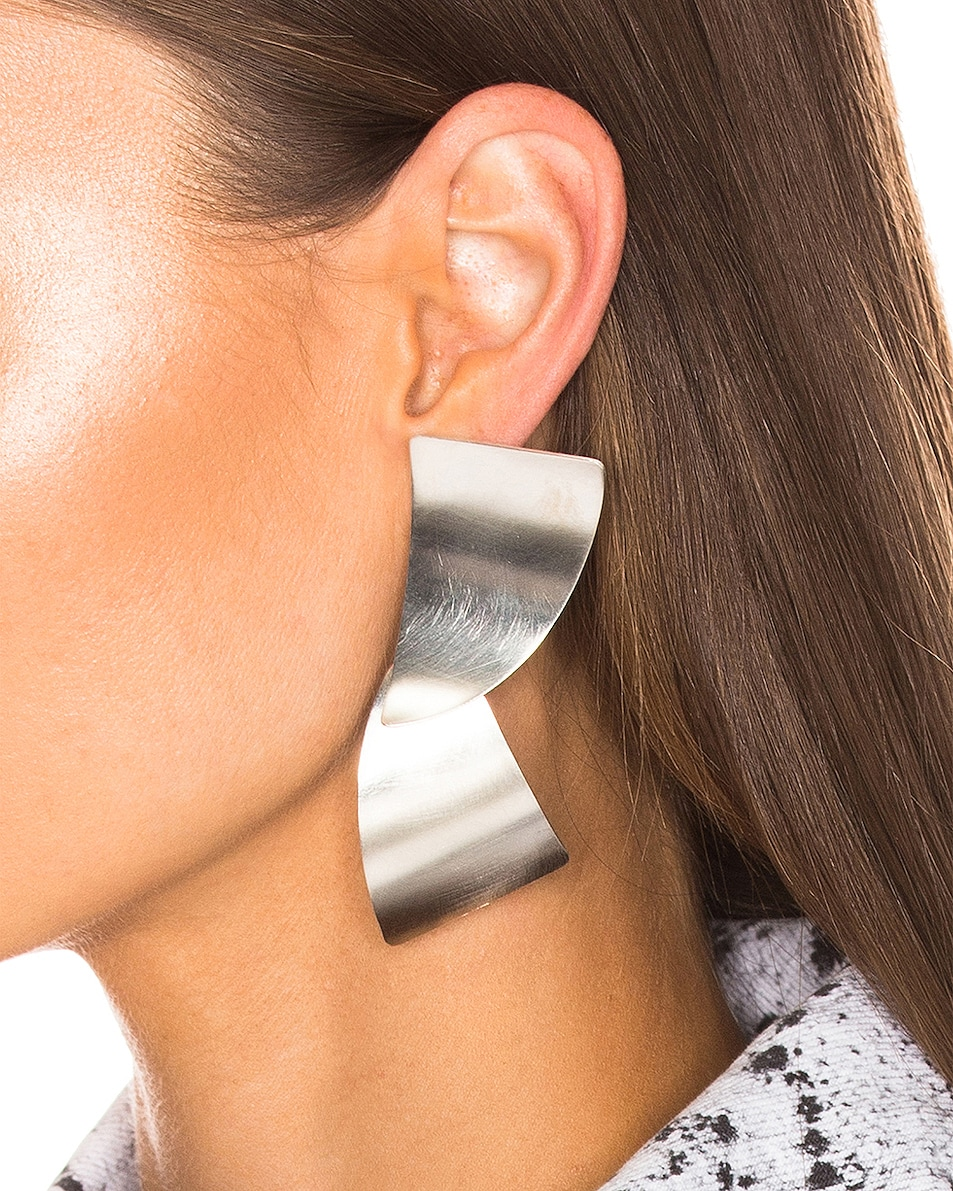 Image 2 of Fay Andrada Susea Large Earrings in Silver