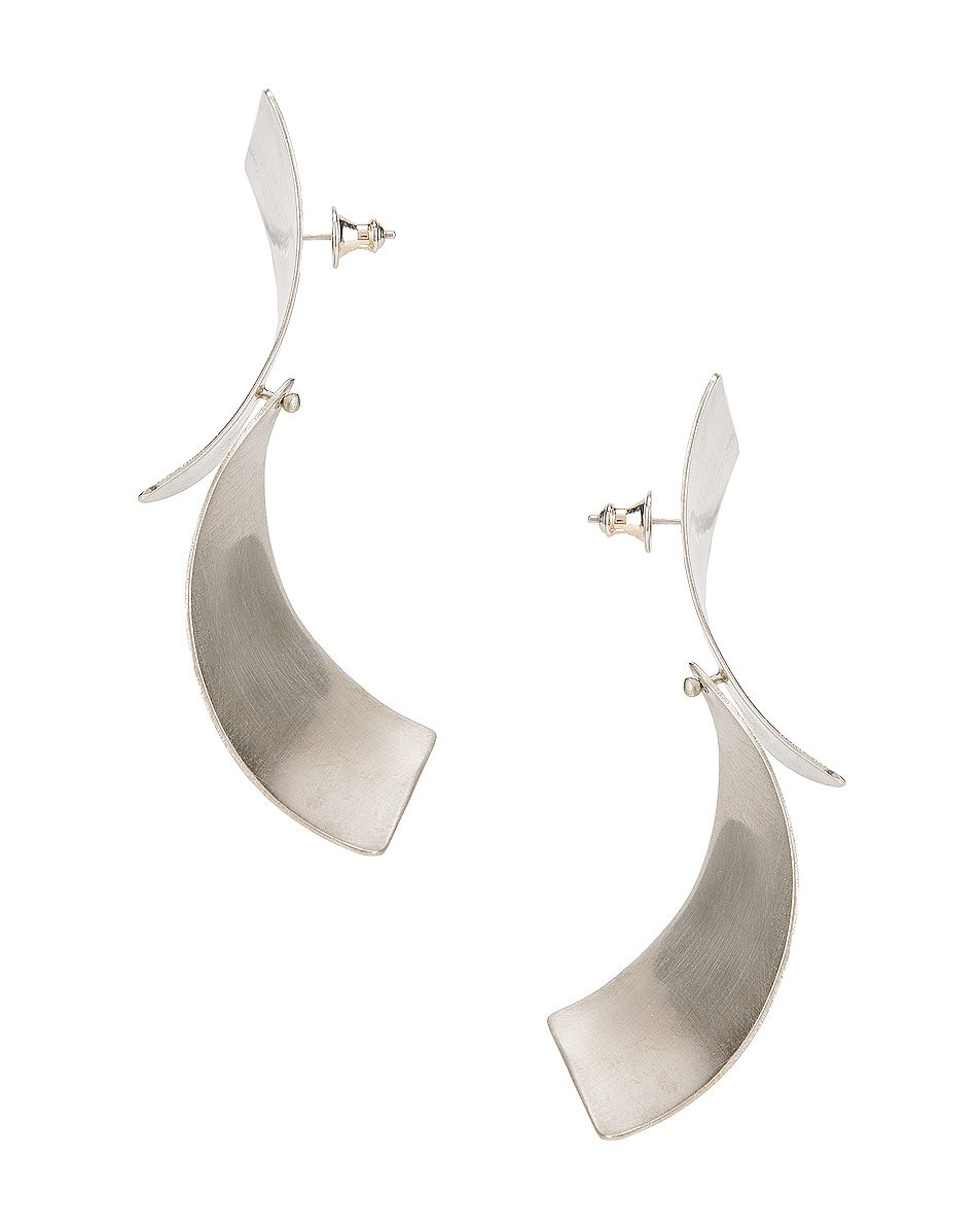 Image 3 of Fay Andrada Susea Large Earrings in Silver