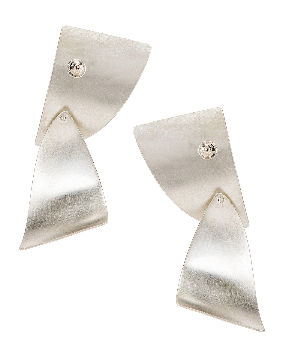 Image 4 of Fay Andrada Susea Large Earrings in Silver