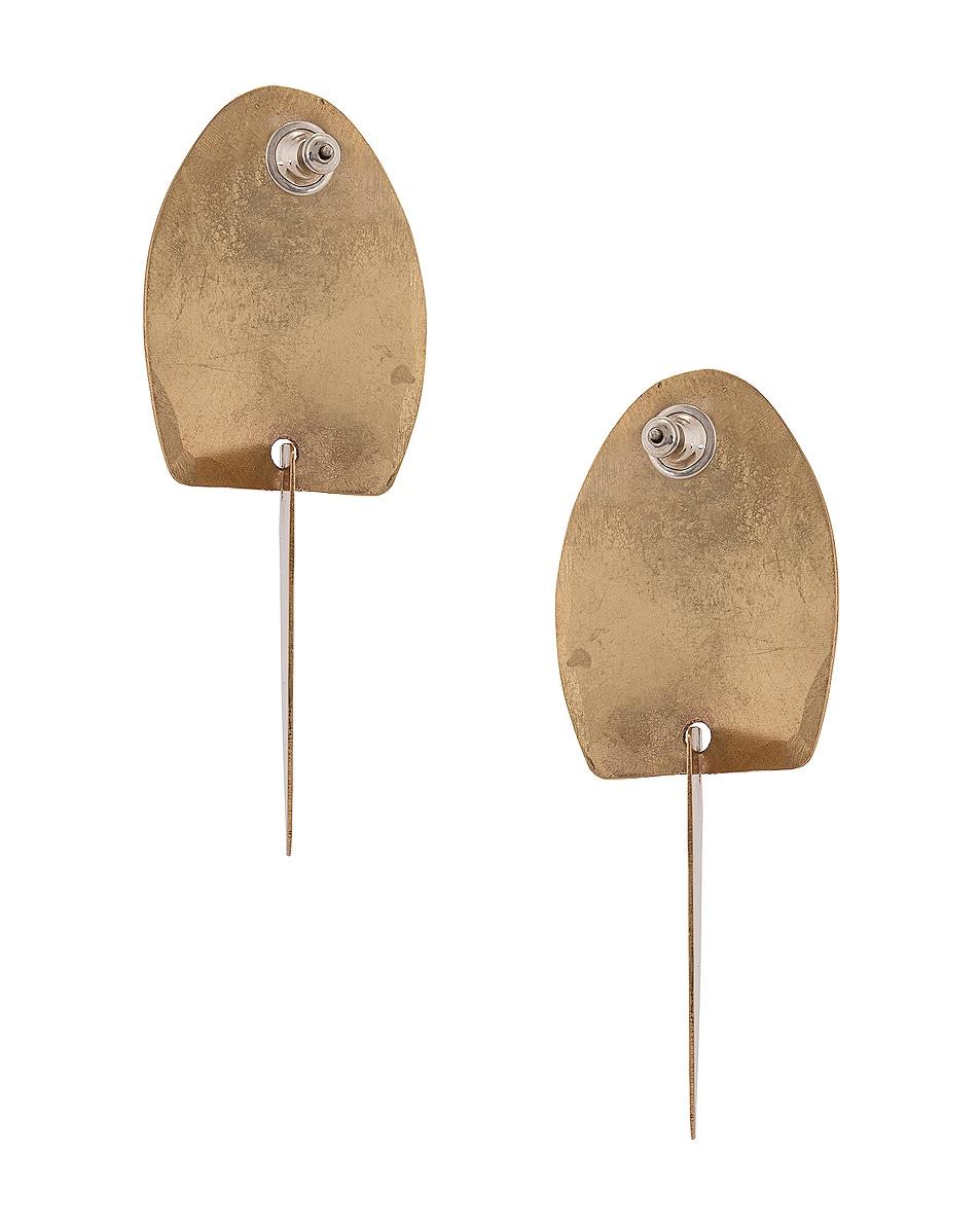 Image 4 of Fay Andrada Taso Earrings in Brass