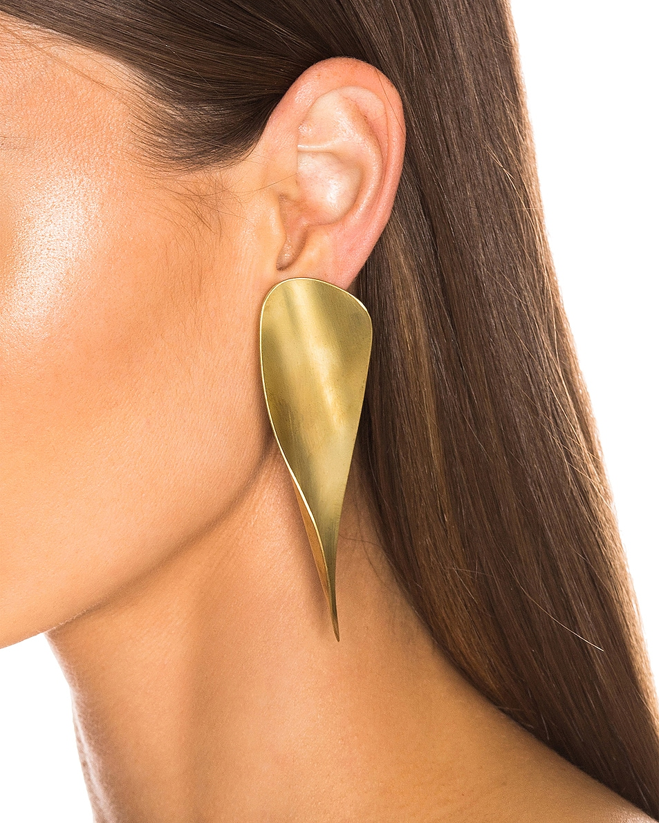 Image 2 of Fay Andrada Laine Earrings in Brass