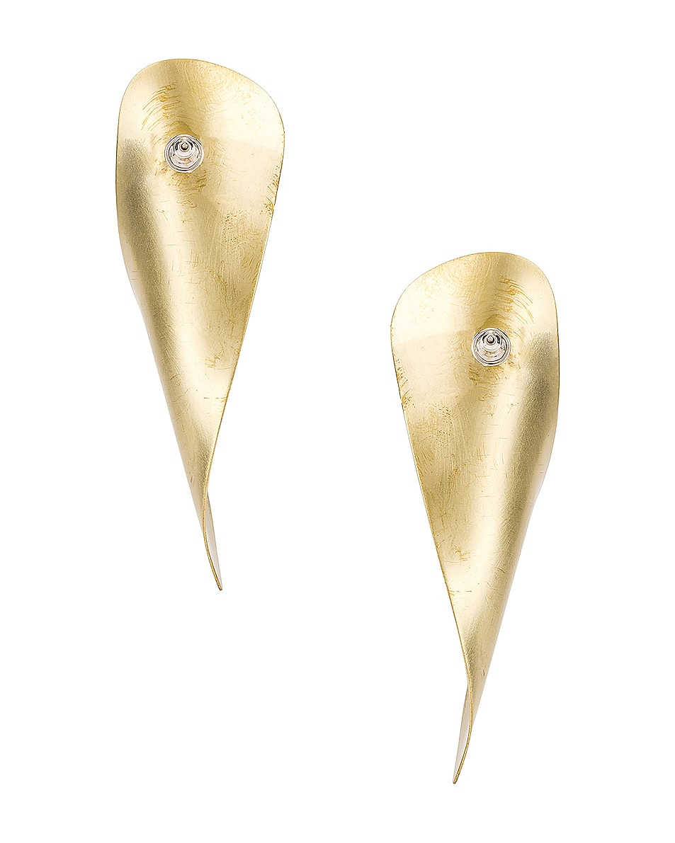Image 4 of Fay Andrada Laine Earrings in Brass