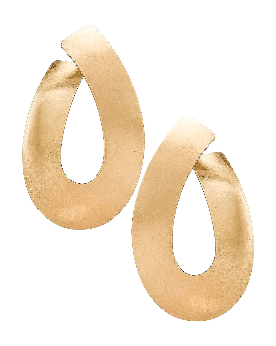 Image 1 of Fay Andrada Liike Medium Earrings in Brass