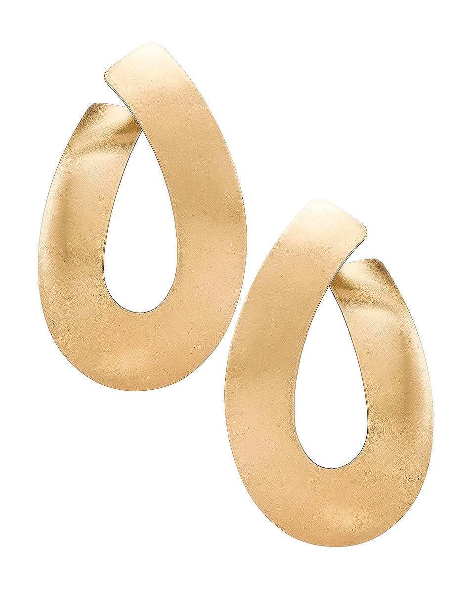 Image 1 of Fay Andrada Liike Medium Earrings in Brass