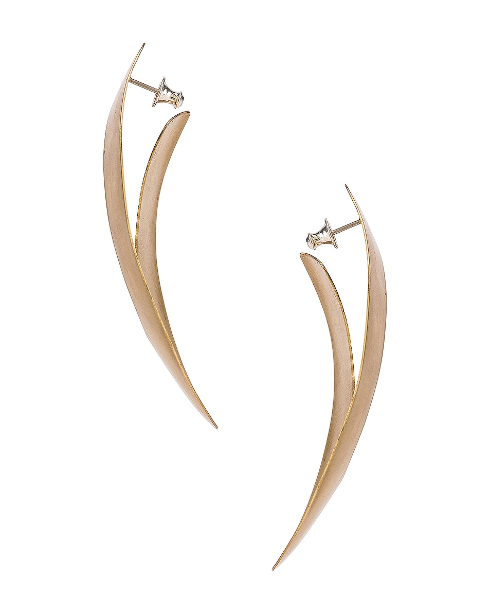 Image 3 of Fay Andrada Liike Medium Earrings in Brass