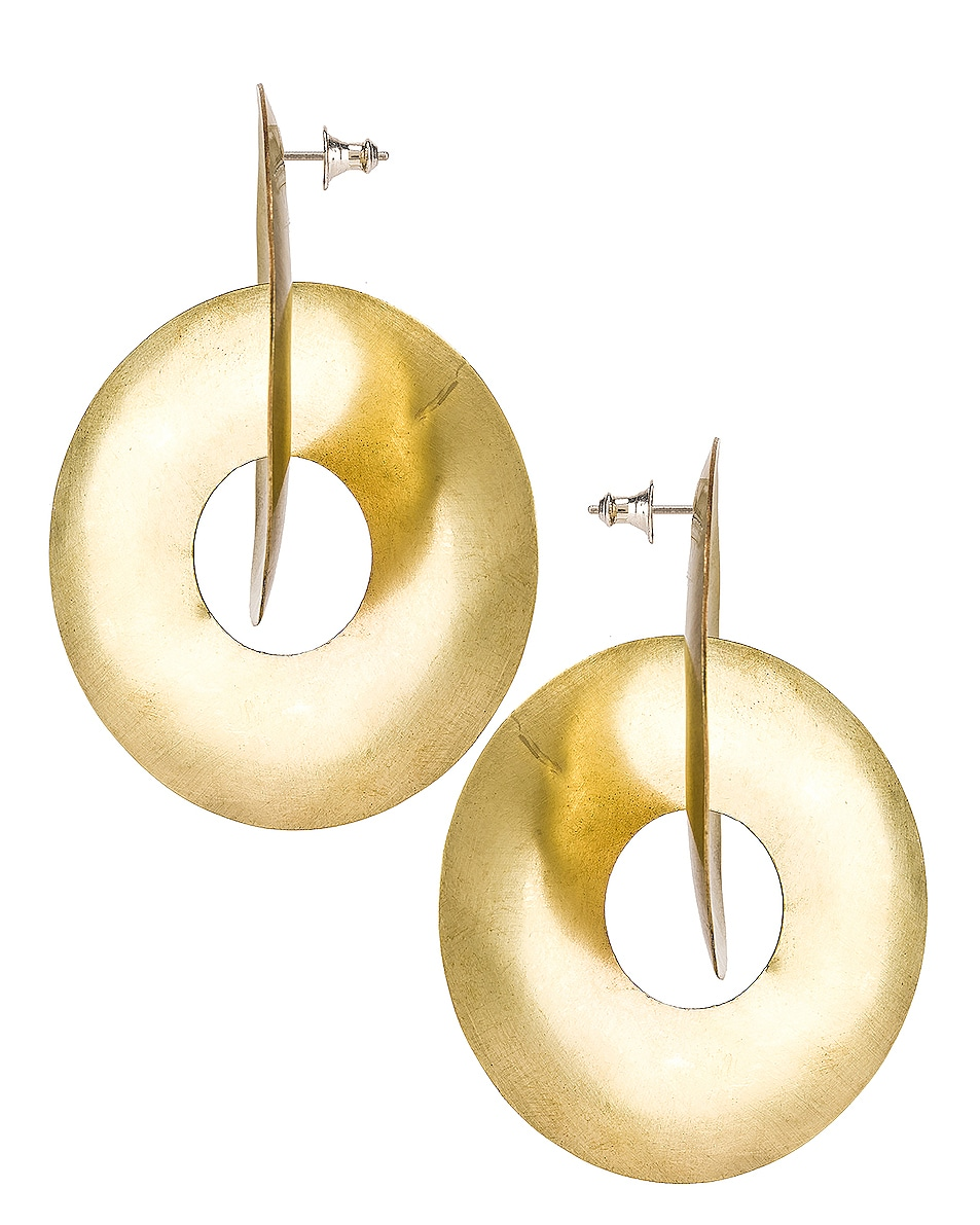 Image 3 of Fay Andrada Pari Earrings in Brass