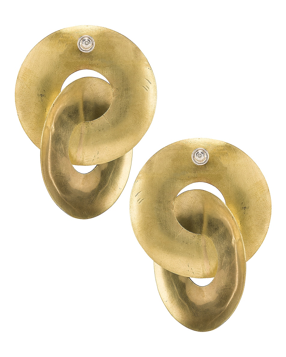 Image 4 of Fay Andrada Pari Earrings in Brass