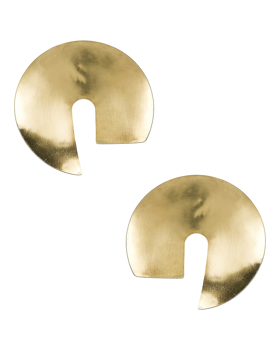 Image 1 of Fay Andrada Tayeh X-Large Earrings in Brass
