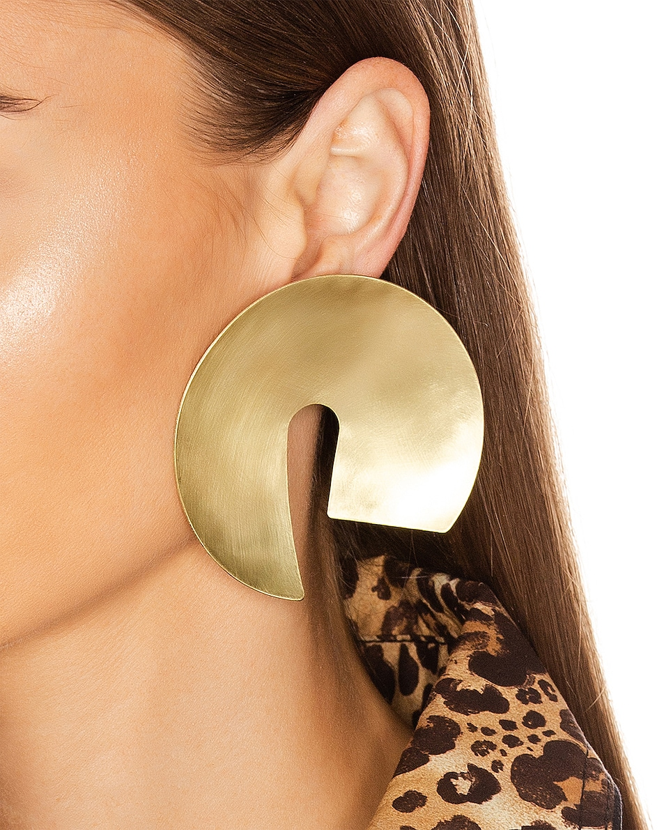 Image 2 of Fay Andrada Tayeh X-Large Earrings in Brass