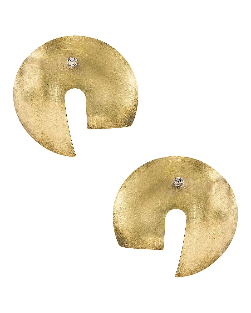Image 4 of Fay Andrada Tayeh X-Large Earrings in Brass