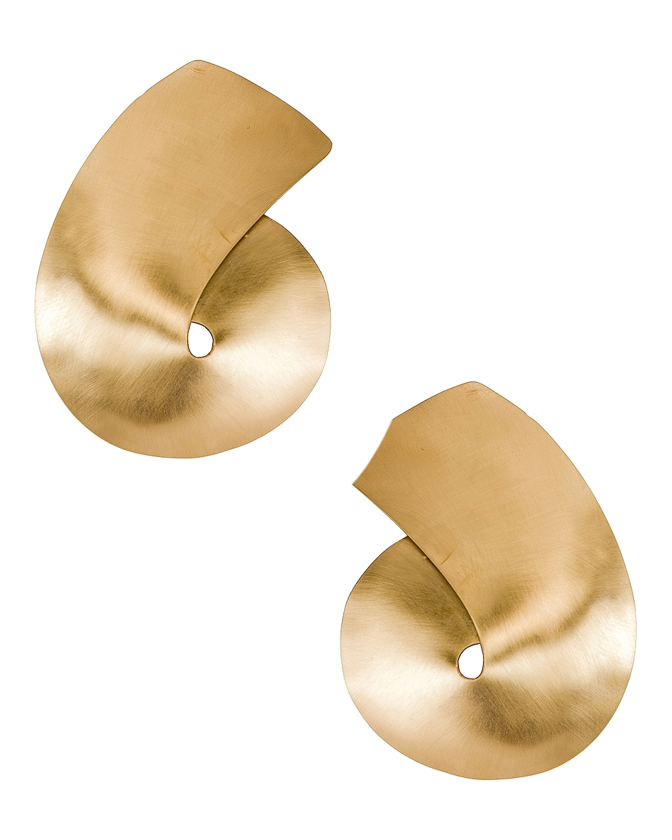 Image 1 of Fay Andrada Liike Large Earrings in Brass