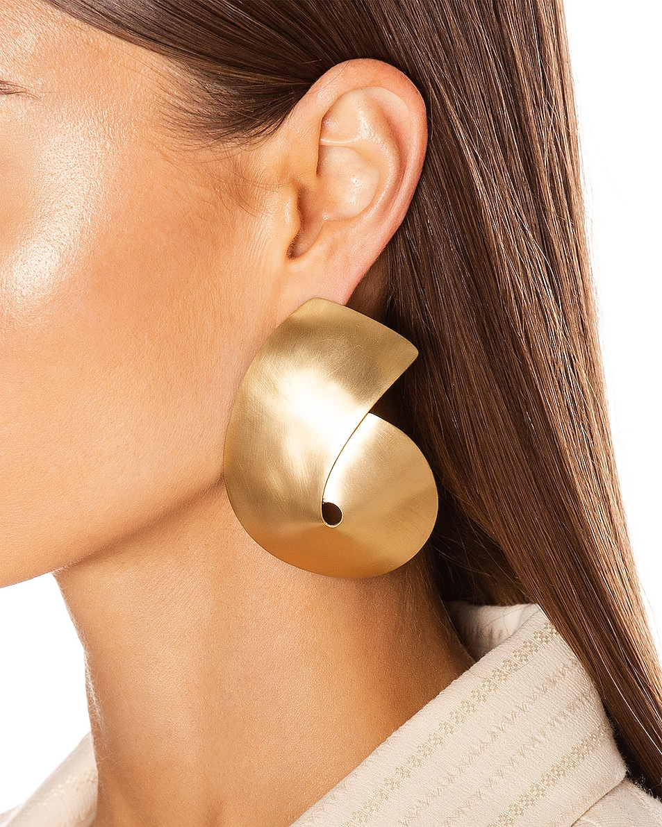 Image 2 of Fay Andrada Liike Large Earrings in Brass