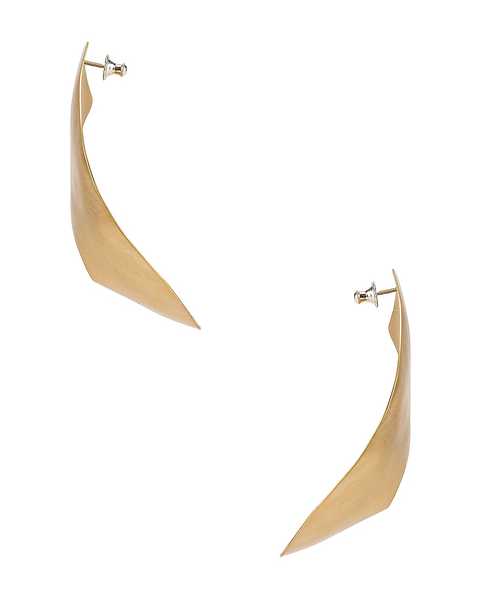 Image 3 of Fay Andrada Liike Large Earrings in Brass