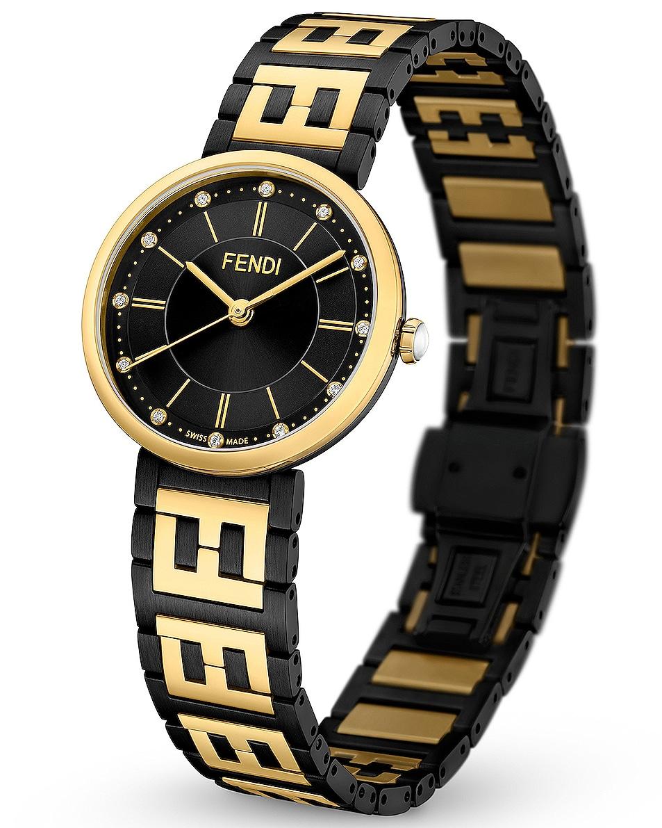 Image 2 of Fendi Forever Fendi 29mm Watch in Black & Gold